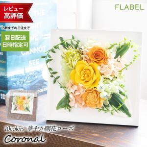 プリザーブドフラワー 壁掛け 花 誕生日 プレゼント 女性 母 結婚 退職祝い ブリザードフラワー バラ Coronal (コロナル) ケース入り|flabel