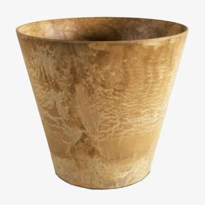 底面給水型 植木鉢/プランター 〔ラウンド型 ベージュ 直径32cm〕 底栓付 『アートストーン』 〔園芸 ガーデニング用品〕