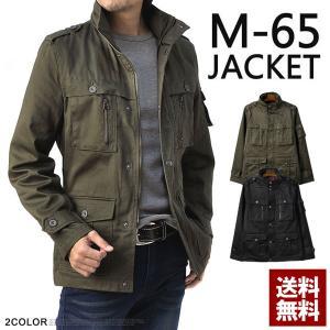 ミリタリージャケット メンズ M65 綿サテン 別注デザイン 新型オリジナル B4N|flagon