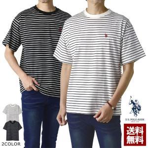 メンズ 半袖Tシャツ マリンボーダー 胸ポケット付 Tシャツ B5U|flagon