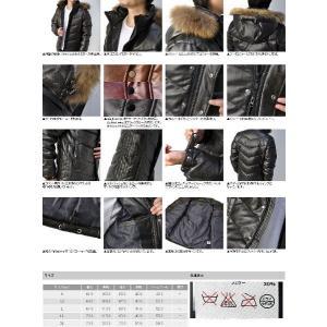 ダウンジャケット メンズ 当店最高ダウン量 毛皮 リアルファー PUレザー C4O|flagon|06