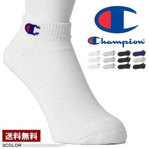 Champion チャンピオン ソックス メンズ 靴下 3P くるぶしスニーカーソックス 3足組 白 黒 グレー インナー CMSCH302 Z4V【パケ2】の画像