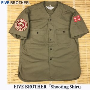 【ファイブブラザー】『シューティングシャツ』FIVE BROTHER,5.5ozライトツイル,半袖,S/S,ヴィンテージ,Lot : 1516044 flamingosapporo