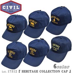 シビル スタンダード 17312 HERITAGE COLLECTION CAP ベースボール キャップ CIVIL STANDARD 帽子 Lot. 17312|flamingosapporo