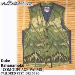 【SUN SURF】『COMOUFLAGE PALMS』DUKE KAHANAMOKU TAILORED VEST/デュークカハナ|flamingosapporo