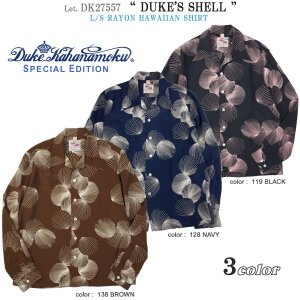"DK27557 デュークカハナモク スペシャルエディション ""DUKE'S SHELL"" アロハシャツ (サンサーフ SUN SURF) DK27557|flamingosapporo"