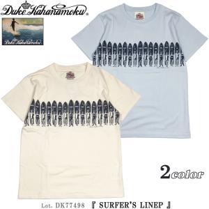 デューク カハナモク DK77498 半袖 Tシャツ SURFER'S LINEP Duke Kahanamoku サンサーフ Lot. DK77498|flamingosapporo