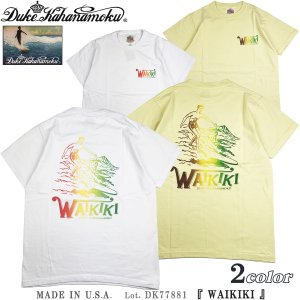 デューク カハナモク DK77881 アメリカ製 半袖 Tシャツ WAIKIKI Duke Kahanamoku サンサーフ Lot. DK77881|flamingosapporo