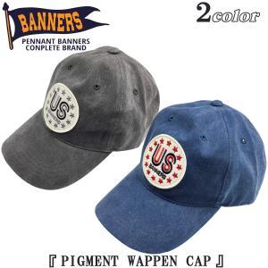 ペナントバナーズ PENNANT BANNERS ピグメント ワッペン キャップ PIGMENT WAPPEN CAP 帽子 PB-015|flamingosapporo