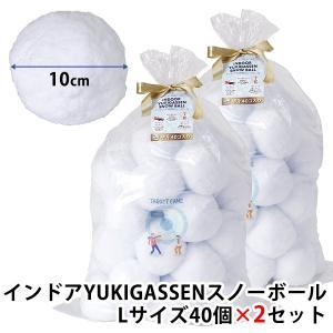 2個セット インドア YUKIGASSEN スノーボール Lサイズ40個セット×2/スパイス(SPICE)/在庫有(12)|flaner-y