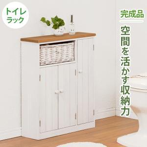 トイレラック トイレットペーパー収納 カントリー スリム おしゃれ 完成品 ナチュラル|flapship-furniture