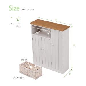 トイレラック トイレットペーパー収納 カントリー スリム おしゃれ 完成品 ナチュラル|flapship-furniture|09