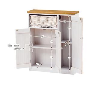 トイレラック トイレットペーパー収納 カントリー スリム おしゃれ 完成品 ナチュラル|flapship-furniture|10