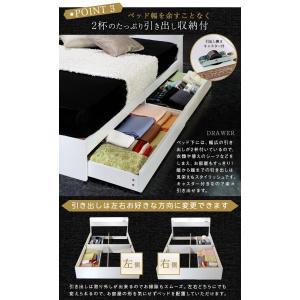 ベッド クイーンベッド ホワイト ブラック ベッド下収納 コンセント付 宮付 おしゃれ|flapship-furniture|05