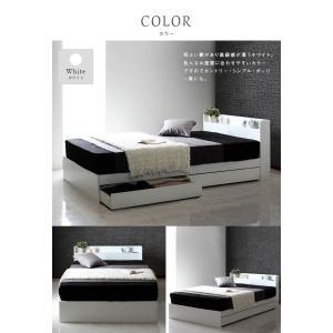 ベッド クイーンベッド ホワイト ブラック ベッド下収納 コンセント付 宮付 おしゃれ|flapship-furniture|09