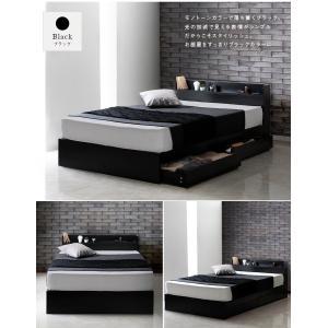 ベッド クイーンベッド ホワイト ブラック ベッド下収納 コンセント付 宮付 おしゃれ|flapship-furniture|10
