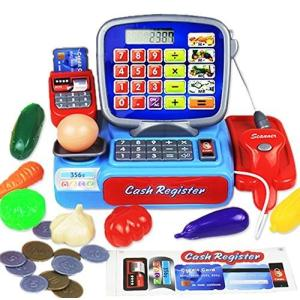 0a7c63120e9cd6 Pumpumly シミュレーションの子供のままごと遊びのおもちゃ 3―8歳の赤ちゃんのスーパーマーケットの小さい キャッシュレジスター 児童買い物の