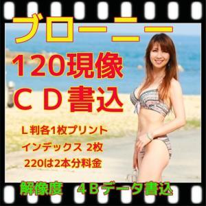 ブローニーカラーフィルム現像 + プリント + CD書込(4B) + ネガインデックス + CDインデックス|flash99
