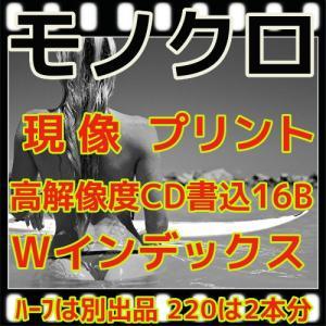 モノクロフィルム現像+プリントL版各1枚+CD書込(16B)最短2日|flash99
