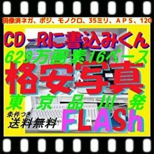 現像済みネガフィルムからCDにデータ化、高解像度16Bで書込します。1本290円、50本以上は1本260円、100本以上は1本240円 |flash99