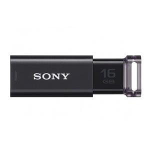 16GB SONY ソニー USB3.0対応 USBフラッシュメモリ Micro Vault Click ノックスライド式 ブラック 海外リテール USM16GU/BC ◆メ flashmemory