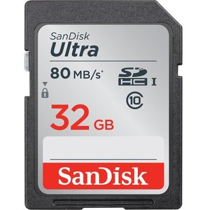 32GB SanDisk サンディスク Ultra SDHCカード CLASS10 UHS-I R:80MB/s 海外リテール SDSDUNC-032G-GN6IN ◆メ|flashmemory