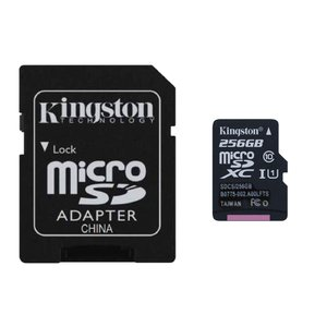 256GB microSDXCカード マイクロSD Kingston キングストン Canvas Select Class10 UHS-1 R:80MB/s SDアダプタ付 海外リテール SDCS-256GB ◆メ|flashmemory