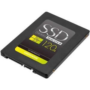 120GB SSD 2.5インチ 内蔵型 グリーンハウス GH-SSDR2Sシリーズ SATA3 6Gb/s R:500MB/s W:400MB/s TLC 7mm厚 GH-SSDR2SA120 ◆メ