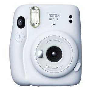 インスタントカメラ チェキ instax mini 11 ICE WHITE FUJIFILM フジ...