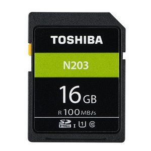 16GB SDHCカード SDカード TOSHIBA 東芝 N203 Class10 UHS-I U1 R:100MB/s 海外リテール THN-N203N0160A4 ◆メ|flashmemory