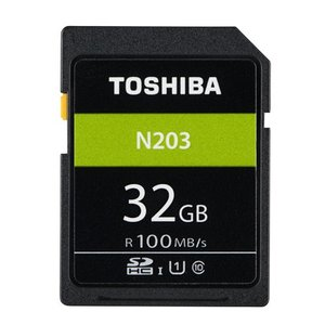 32GB SDHCカード SDカード TOSHIBA 東芝 N203 Class10 UHS-I U1 R:100MB/s 海外リテール THN-N203N0320A4 ◆メ|flashmemory