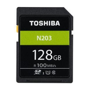 128GB SDXCカード SDカード TOSHIBA 東芝 N203 Class10 UHS-I U1 R:100MB/s 海外リテール THN-N203N1280A4 ◆メ flashmemory