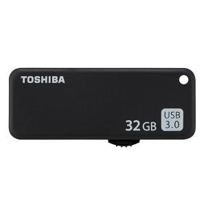 32GB USBメモリー USB3.0 TOSHIBA 東芝 TransMemory U365 R:150MB/s スライド式 ブラック 海外リテール THN-U365K0320C4 ◆メ|flashmemory