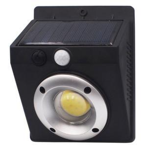 ソーラーセンサーライト 高輝度COB型LED 平野商会 明るさ800lm 自動点灯/消灯(モーションセンサー) 電池不要 HRN-508 ◆宅 風見鶏