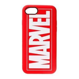 【iPhone8/7 ケース】 シリコンケース MARVEL マーベル PGA ソフトタイプ クリーニングクロス付 ロゴ レッド PG-DCS156MVL ◆メ|flashmemory