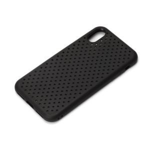【iPhoneX ケース】 PGA iJacket ドットメッシュケース TPU素材 耐衝撃&耐振動設計 ブラック PG-17XTP10BK ◆メ|flashmemory