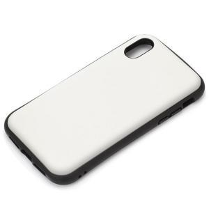 【iPhoneXS Max ケース】ハイブリッドタフケース 背面カバー PGA Premium Style 耐衝撃/耐振動設計 ワイヤレス充電対応 マットホワイト PG-18ZPT02WH ◆メ|flashmemory