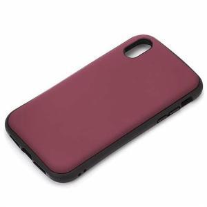 【iPhoneXS Max ケース】ハイブリッドタフケース 背面カバー PGA Premium Style 耐衝撃/耐振動設計 ワイヤレス充電対応 マットレッド PG-18ZPT03RD ◆メ|flashmemory