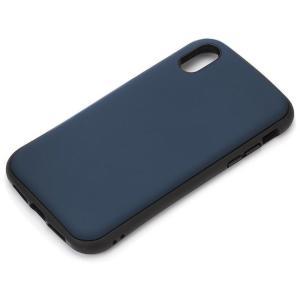 【iPhoneXS Max ケース】ハイブリッドタフケース 背面カバー PGA Premium Style 耐衝撃/耐振動設計 ワイヤレス充電対応 マットブルー PG-18ZPT04BL ◆メ|flashmemory