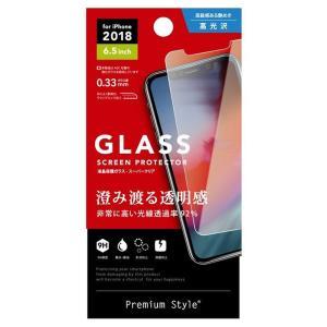 【iPhoneXS Max フィルム】 液晶保護ガラス 高光沢 PGA iJacket 表面硬度9H 澄み渡る透明感 ラウンドエッジ加工 スーパークリア PG-18ZGL01 ◆メ|flashmemory