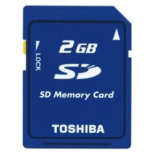 ◇ 【2GB】 東芝/TOSHIBA SDメモリーカード バルク SD-M02G-BLK ◆メ flashmemory