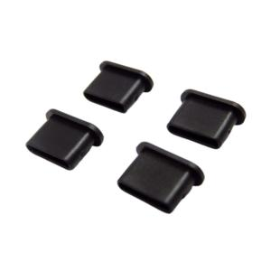 防塵キャップ (Type-C ツマミ無) 4個入 SSA エスエスエー USB-Cコネクタの保護に最適 4個セット ブラック SSC-10CS ◆メ|風見鶏
