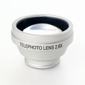 ◇【焦点距離を2.6倍にするテレコンバーター】 AGOR スマートフォン用レンズ 望遠レンズ 2.6x マグネット取付式 シルバー KTDF-HCM-T26SV ◆メ|flashmemory
