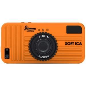 ◇ GIZMON ギズモン iPhone用ケース iPhone SE / 5S / 5対応 カメラ型シリコンケース ソフト アイカ オレンジ GIZ-SICA-OR ◆メ|flashmemory