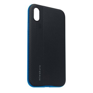 【iPhoneX ケース】 miwakura 美和蔵 プロテクトケース METEOR フレーム分離型 TPU素材 軽量仕様 ブラックxブルー MCA-MTOIX-L ◆メ|flashmemory