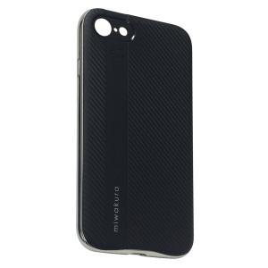 【iPhone8/7 ケース】 miwakura 美和蔵 プロテクトケース METEOR フレーム分離型 TPU素材 軽量仕様 ブラックxシルバー MCA-MTOI8-S ◆メ|flashmemory