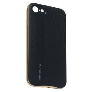 【iPhone8/7 ケース】 miwakura 美和蔵 プロテクトケース METEOR フレーム分離型 TPU素材 軽量仕様 ブラックxゴールド MCA-MTOI8-G ◆メ|flashmemory