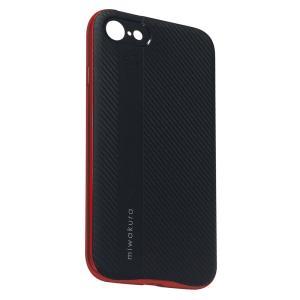 【iPhone8/7 ケース】 miwakura 美和蔵 プロテクトケース METEOR フレーム分離型 TPU素材 軽量仕様 ブラックxレッド MCA-MTOI8-R ◆メ|flashmemory