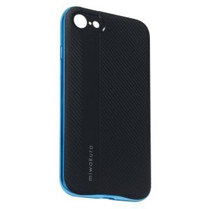 ◇【iPhone8/7 ケース】 miwakura 美和蔵 プロテクトケース METEOR フレーム分離型 TPU素材 軽量仕様 ブラックxブルー MCA-MTOI8-L ◆メ|flashmemory