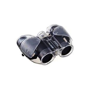 双眼鏡 7倍 スケルトンタイプ NASHICA ナシカ光学 PRETTY 7X18 SK-CW レンズ口径18mm クリアブラック 7X18SKCB ◆宅|flashmemory